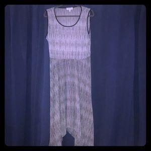 Elle Handkerchief Midi Dress